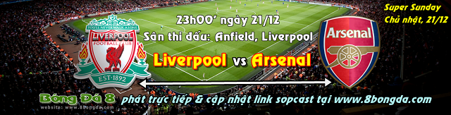 Link sopcast trận Liverpool vs Arsenal