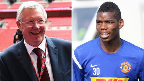pogba vs sir alex ferguson