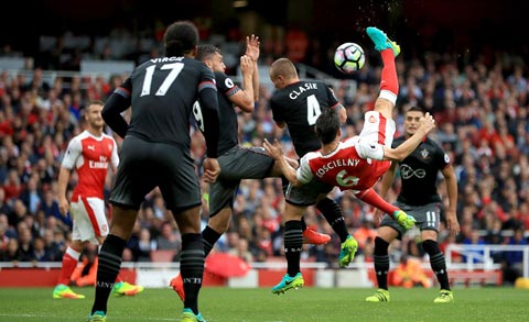 Koscielny arsenal vs southampton