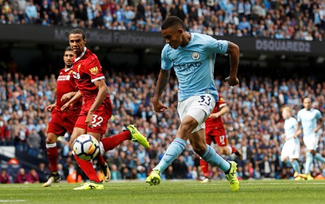 Gabriel Jesus man city vs Liverpool