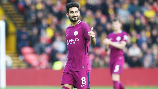 Ilkay Gundogan Man City san khach