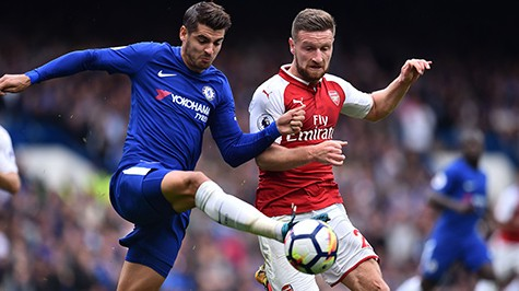 chelsea vs arsenal mustafi morata