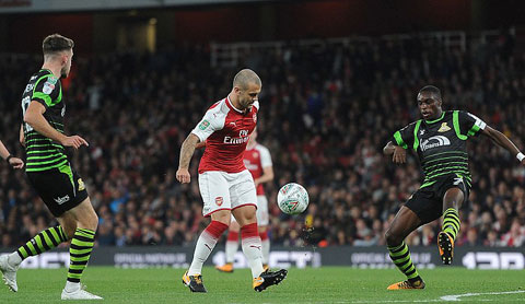 wilshere Arsenal vs Doncaster Rovers cup lien doan