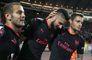 arsenal wilshere giroud europa league