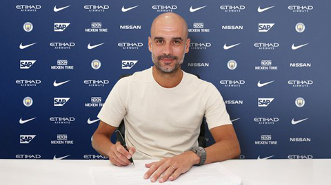 Guardiola ky hop dong mc