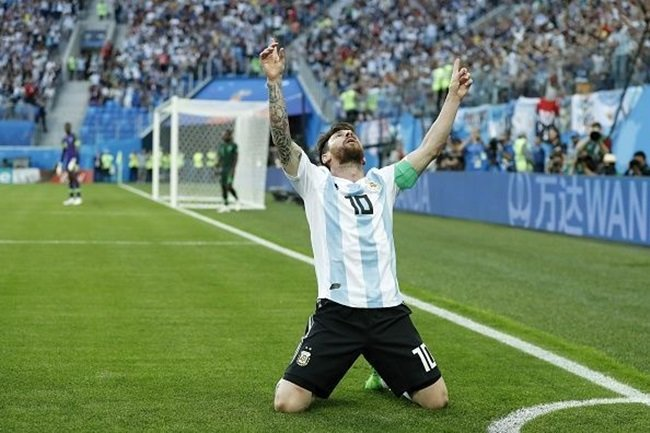 Messi an mung Argentina vs NiGERIA